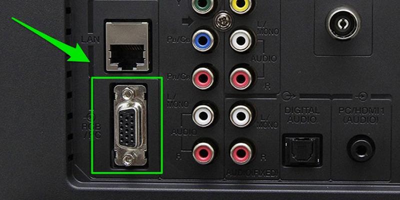 Cổng VGA trên tivi