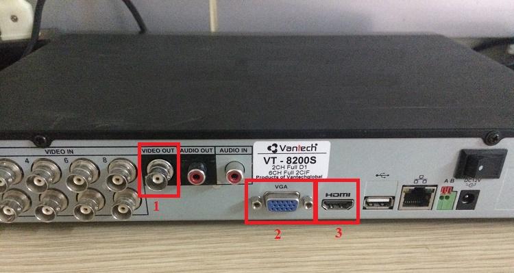 Cổng kết nối camera trên đầu thu với tivi