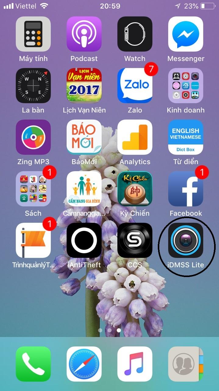 Hướng dẫn cách cài đặt xem camera Dahua trên điện thoại iphone