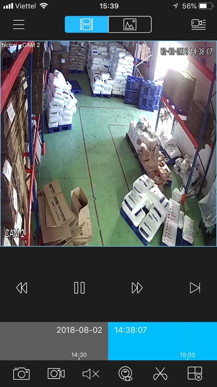 Xem lại camera Dahua trên điện thoại iphone