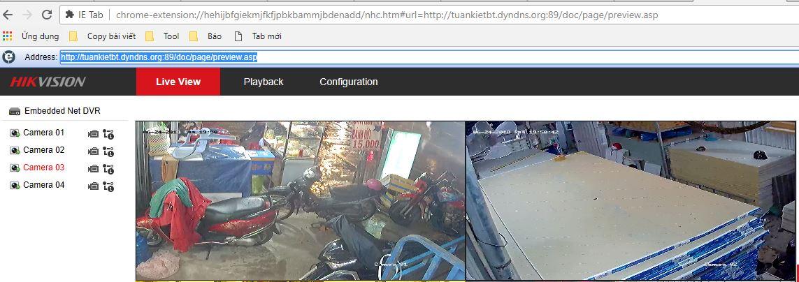 xem camera hikvision trên google chorme